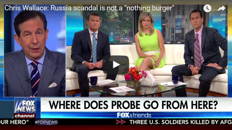 [Read at Crooks and Liars] Chris Wallace Smacks Down Fox & Friends For Calling Russia Scandal A 'Nothingburger'
