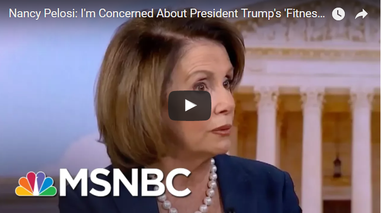 [Watch at Crooks and Liars] Nancy Pelosi: Trump's Family Should Be Concerned About His Health