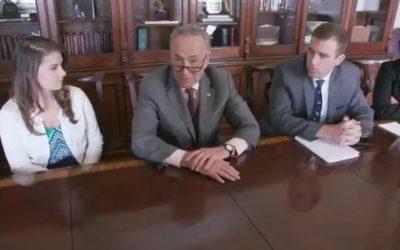 [Watch at Mediaite] Watch: Sen. Chuck Schumer Parodies Trump's Bizarre Cabinet Meeting