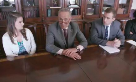 [Watch at Mediaite] Watch: Sen. Chuck Schumer Parodies Trump's Bizarre Cabinet Meeting