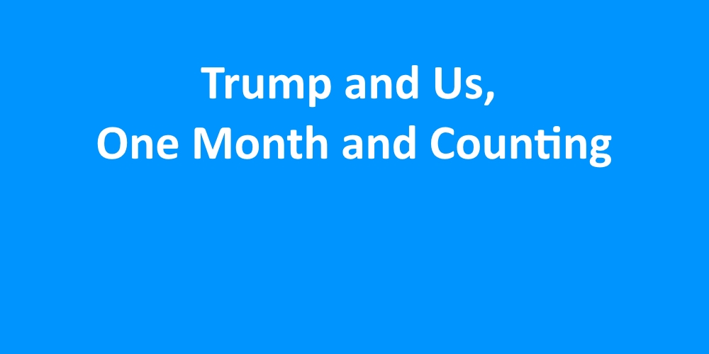[Read at Democracy Alliance] Trump and Us, One Month and Counting