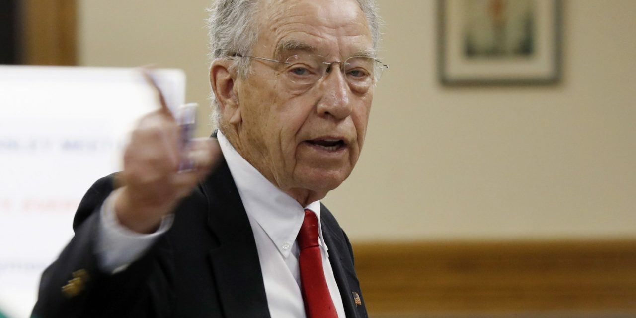 [Read at The Washington Post] Grassley blasts Trump administration for policy to limit information shared with Congress