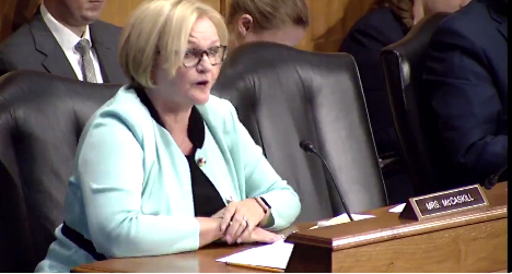 [Watch at Talking Points Memo] Watch Claire McCaskill Call Out Top GOPer On Obamacare Repeal Secrecy