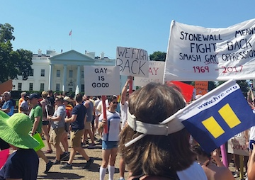 [Read at TruthDig] Pride and Defiance: LGBTQ Marchers Make A Showing At The White House
