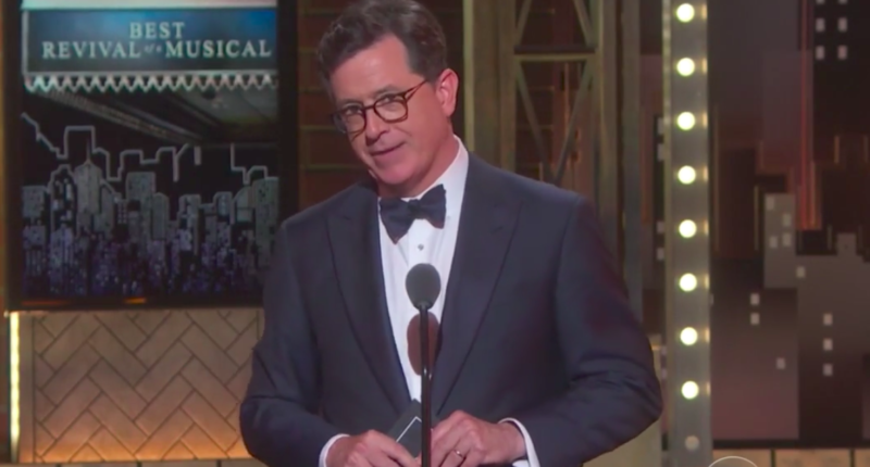 [Read at Raw Story]'It Could Close Early': Stephen Colbert Compares Trump Presidency To A Bad Broadway Show